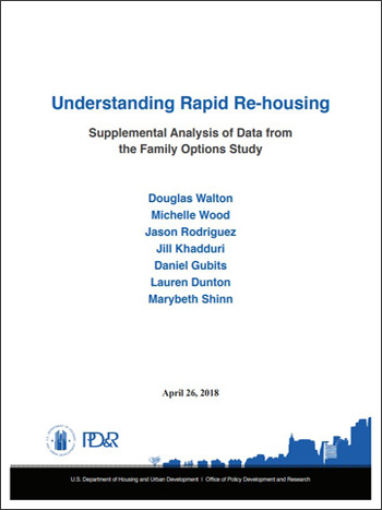 Understanding Rapid Re-housing: Supplemental Analysis of Data from the Family Options Study