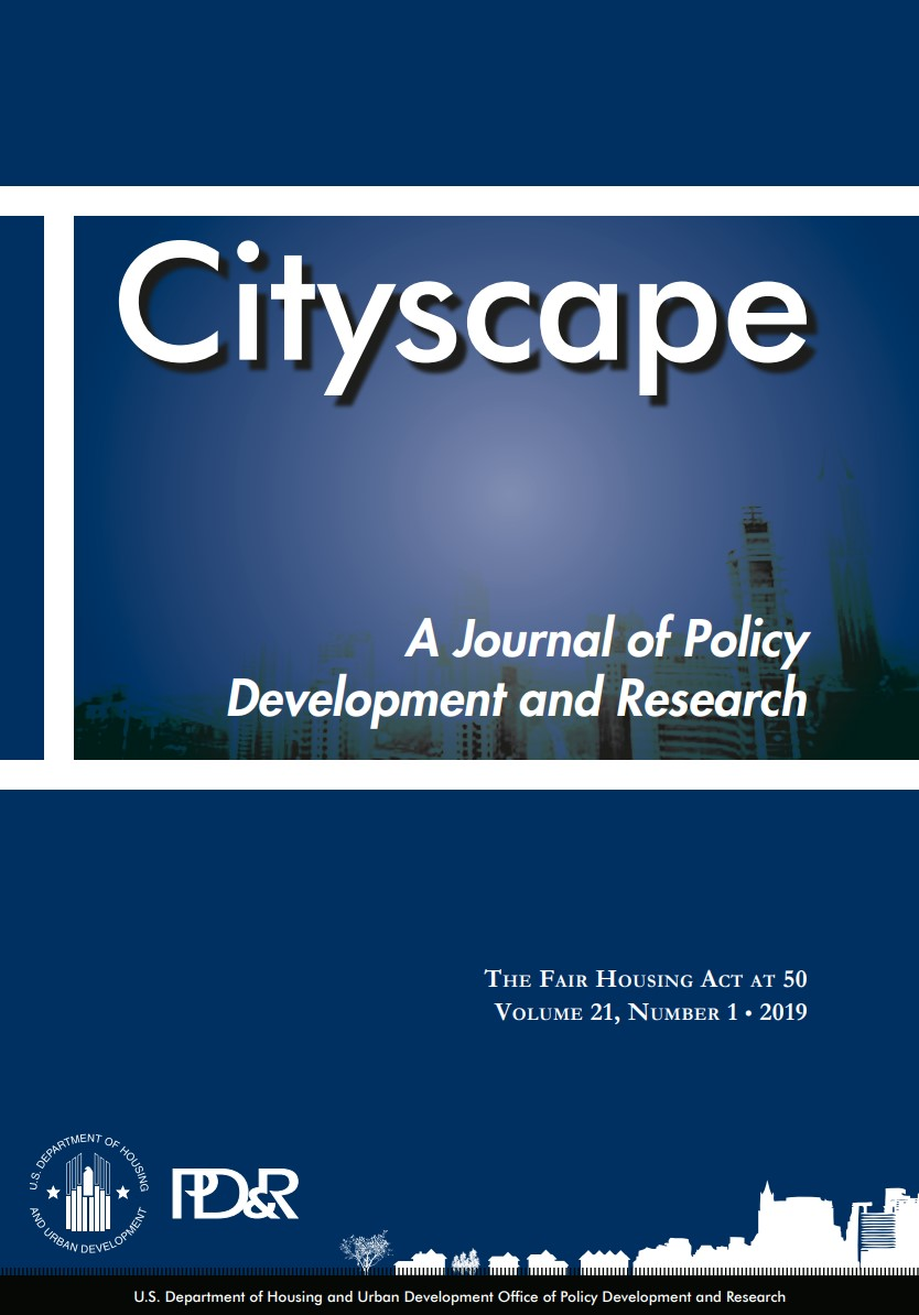 Cover of Cityscape Volume 21, Number 1: The Fair Housing Act at 50
